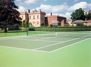 Tennis court painting by ColourCourt.